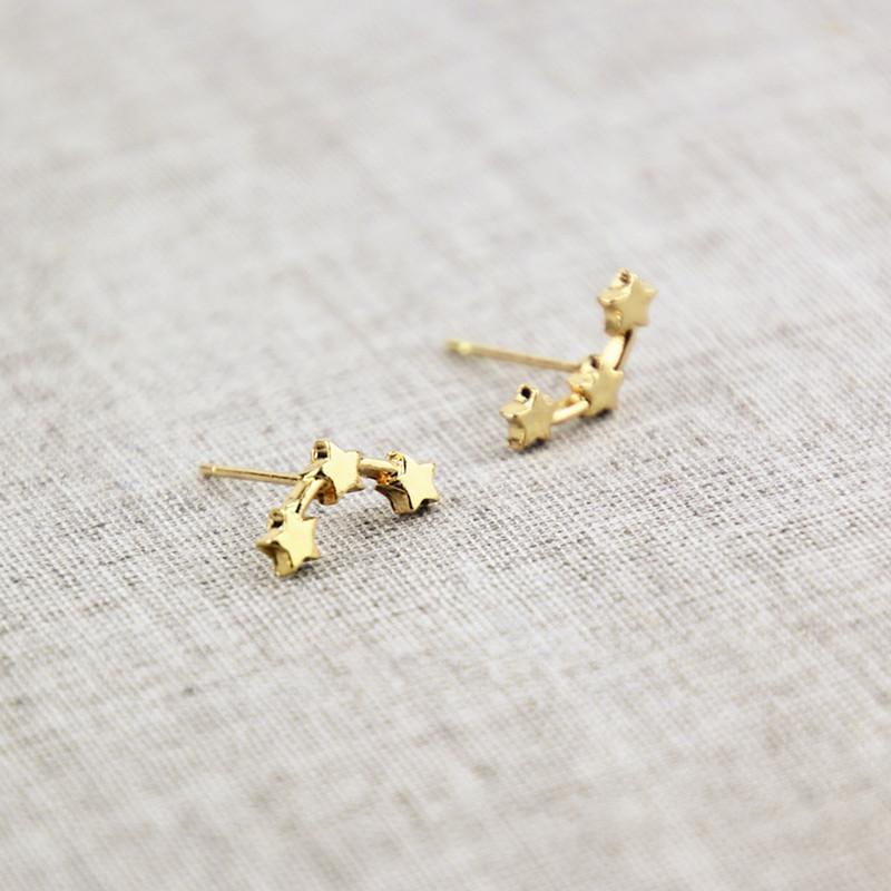 Three Stars Climber Earrings