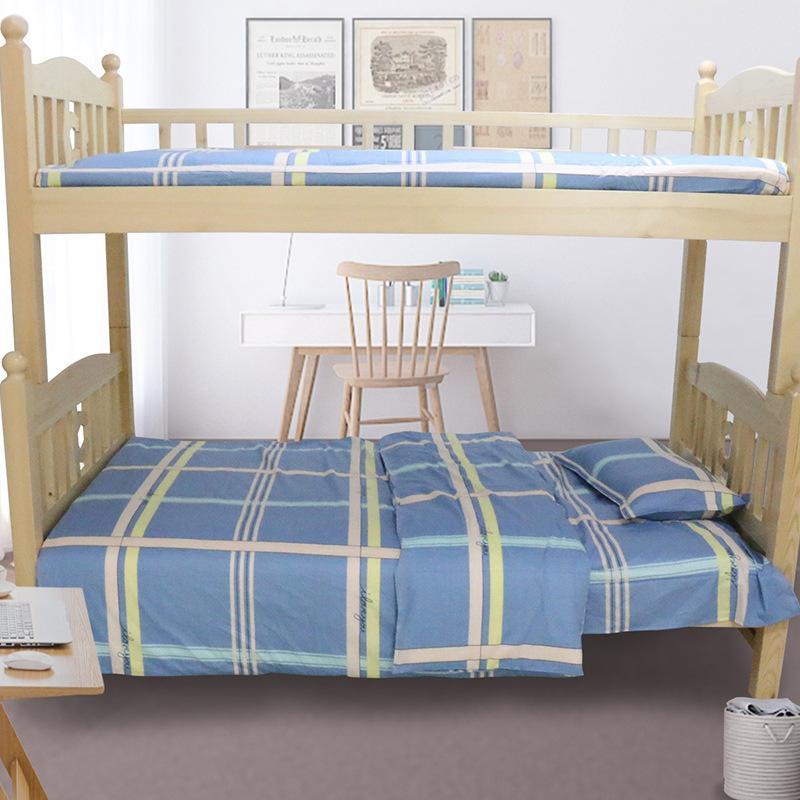 Blue Plaid 3-piece Bedding Set