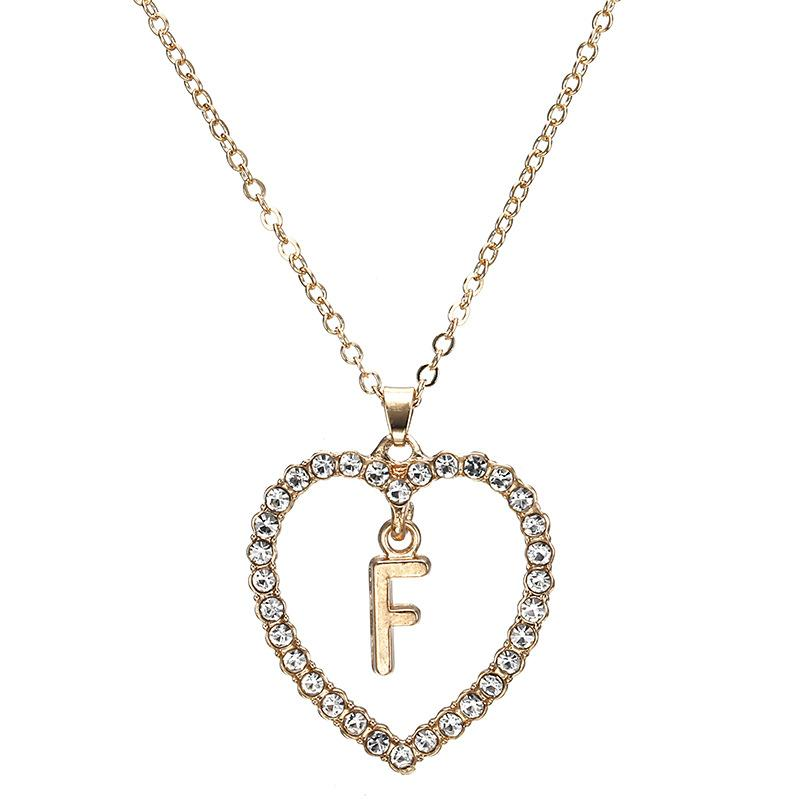 Initials in Heart Necklace