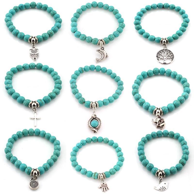 Handmade Turquoise Bead Bracelet