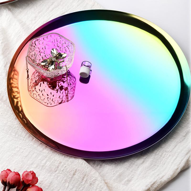 Stainless Steel Round Jewelry Tray