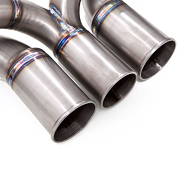Tubi Style Porsche GT3/GT3RS Three-Pipe Center Muffler Delete (Titanium)