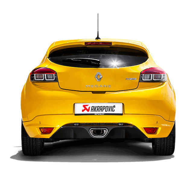 Akrapovic Slip-On (Titanium) Renault Megane Coupe RS 2015