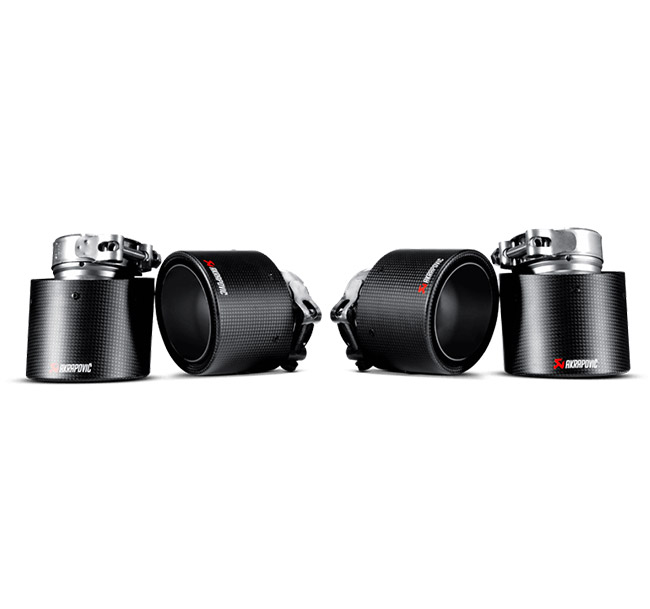 Akrapovic Tail Pipe Set (Carbon) BMW X5 M (E70) X6 M (E71)