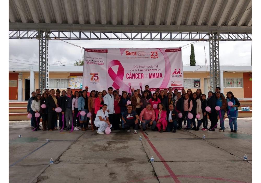 Participa el SNTE en la lucha contra el cáncer de mama