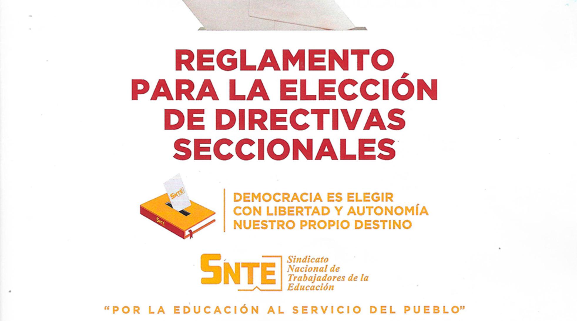 Reglamento para la elección de directivas seccionales