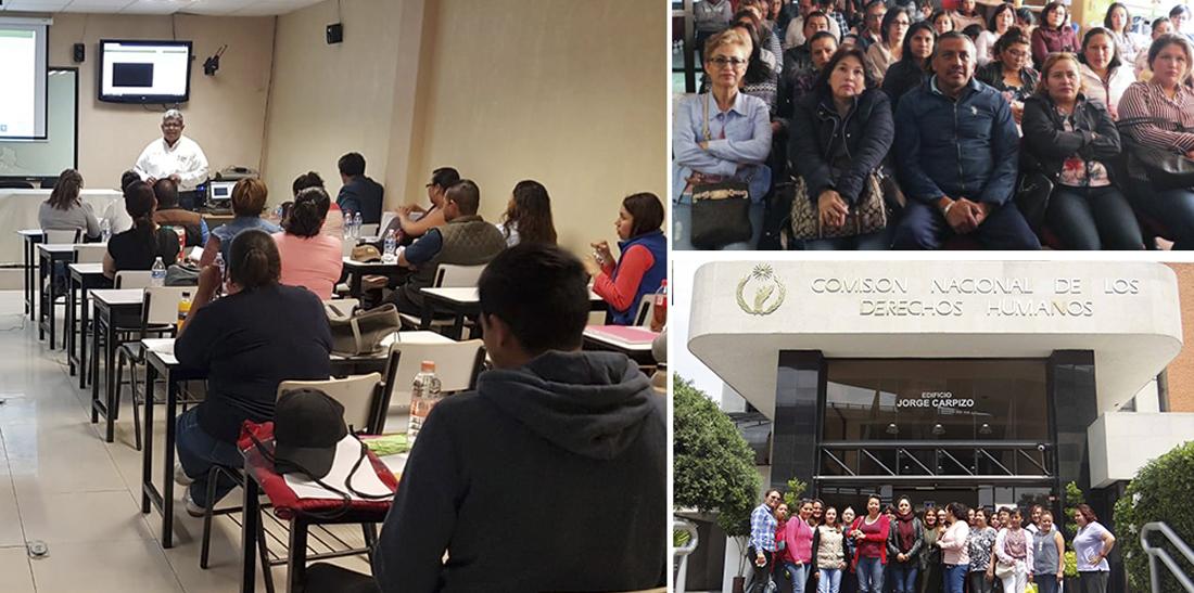 El SNTE y la CNDH ofrecerán a maestros nuevos cursos y conferencias sobre derechos humanos