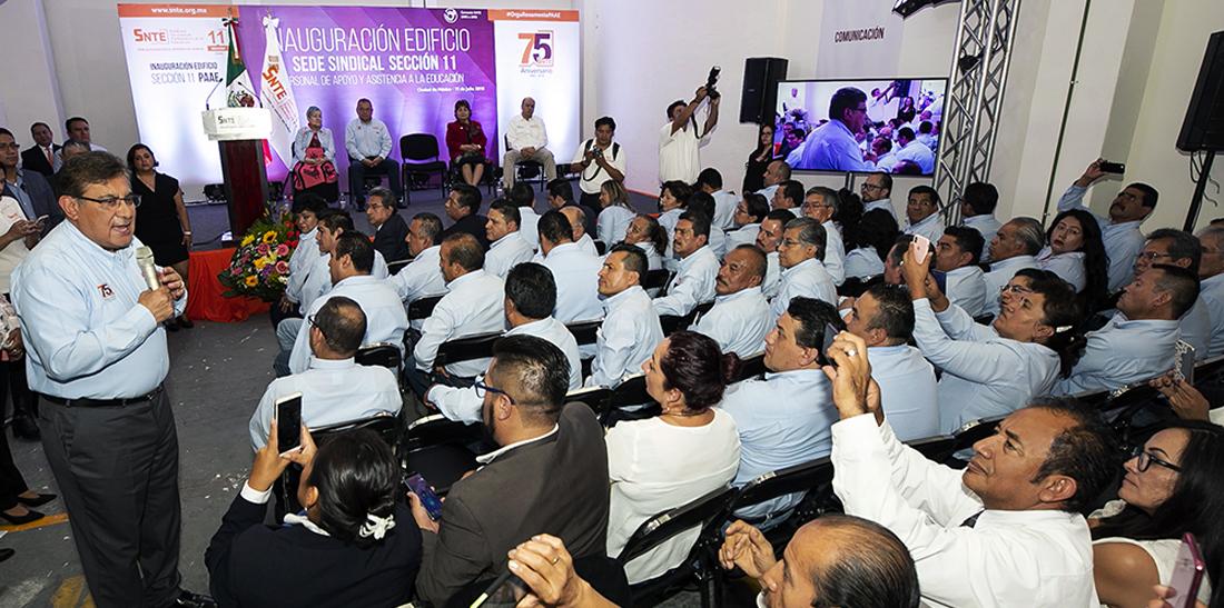 El SNTE entrega a sus agremiados nuevas instalaciones en la Ciudad de México