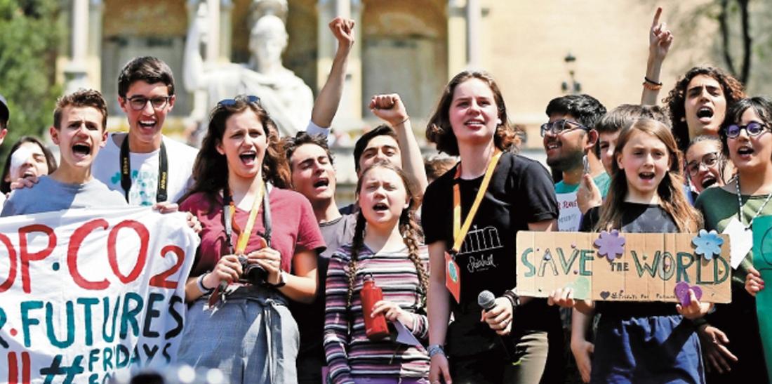 Jóvenes por el cambio climático