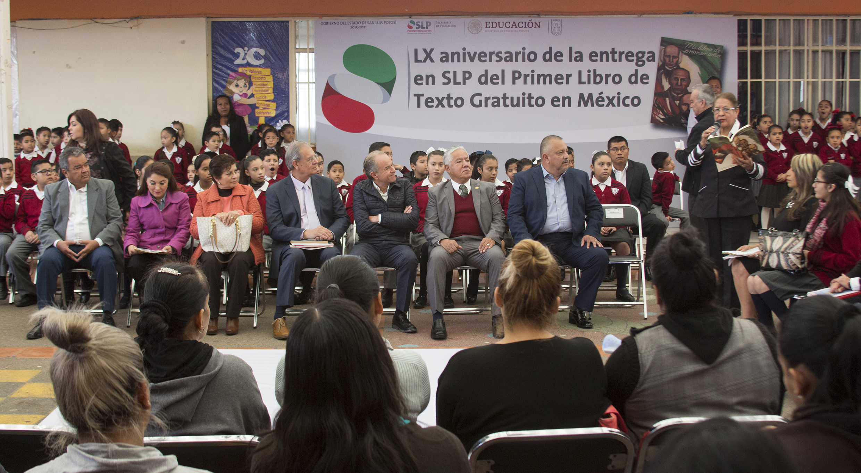 LX Aniversario de la entrega en SLP del Primer Libro de Texto Gratuito en México
