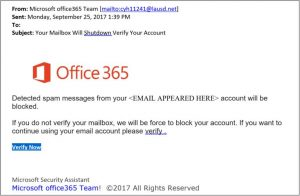 example phishing message