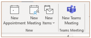 Creating a Group Calendar Without SharePoint Online cal new appt