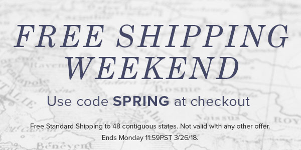 Free Shipping Weekend - use code SPRING