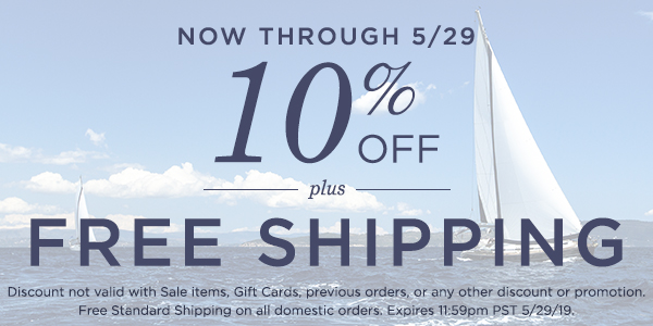 10% OFF plus FREE Shipping - Shop Now