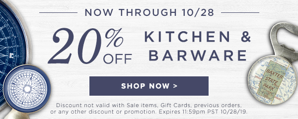 20% OFF Barware - Shop Now