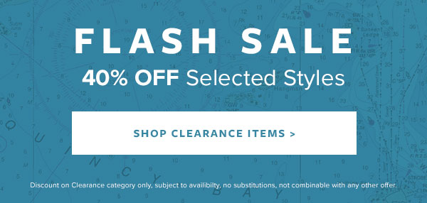 40% Off Selected Styles - Flash Sale - Shop Now