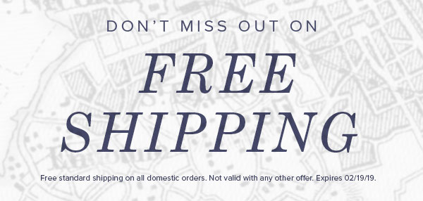 Free Shipping until 2/19