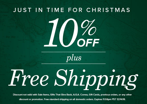 10% OFF plus Free Ground Shipping Sitewide