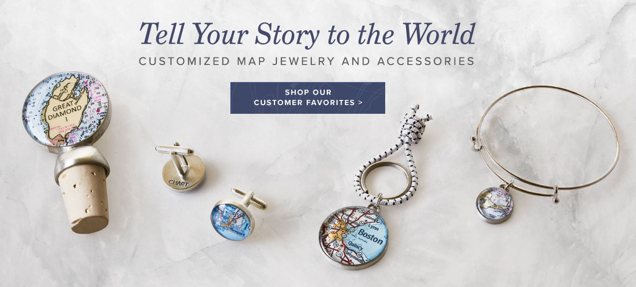 Tell Your Story - Custom Handmade Map Jewelry and Accessories