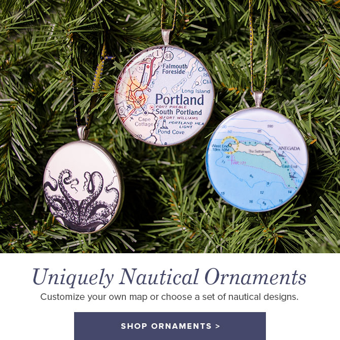Nautical and Custom Christmas Ornaments - Shop Now
