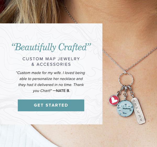 cbd4b3202b71 Custom Map Jewelry and Accessories Handmade in USA