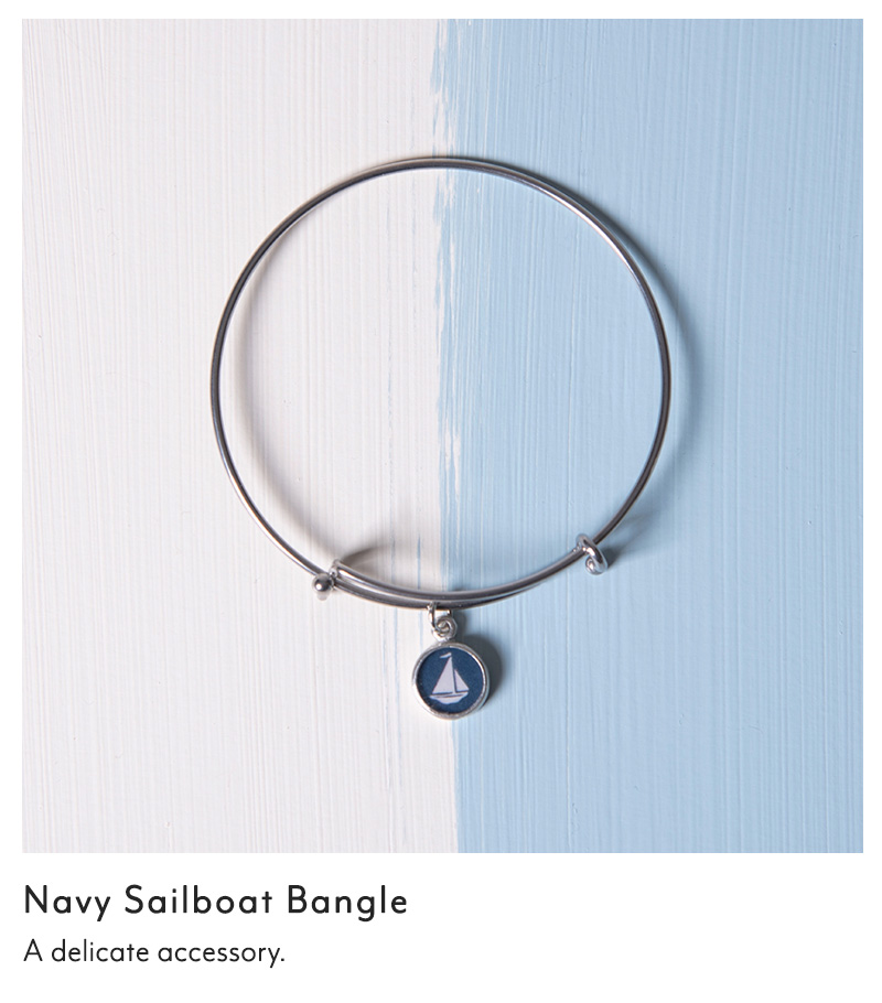 Navy Sailboat Bangle