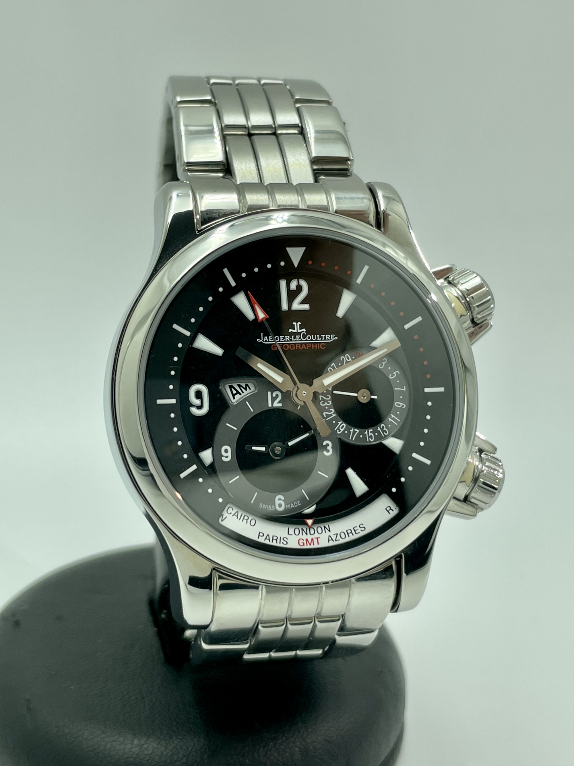 Jaeger-lecoultre Master Compressor Geographic GMT 41MM Steel Like New Box and Papers 146.8.83 Q1718470 2004