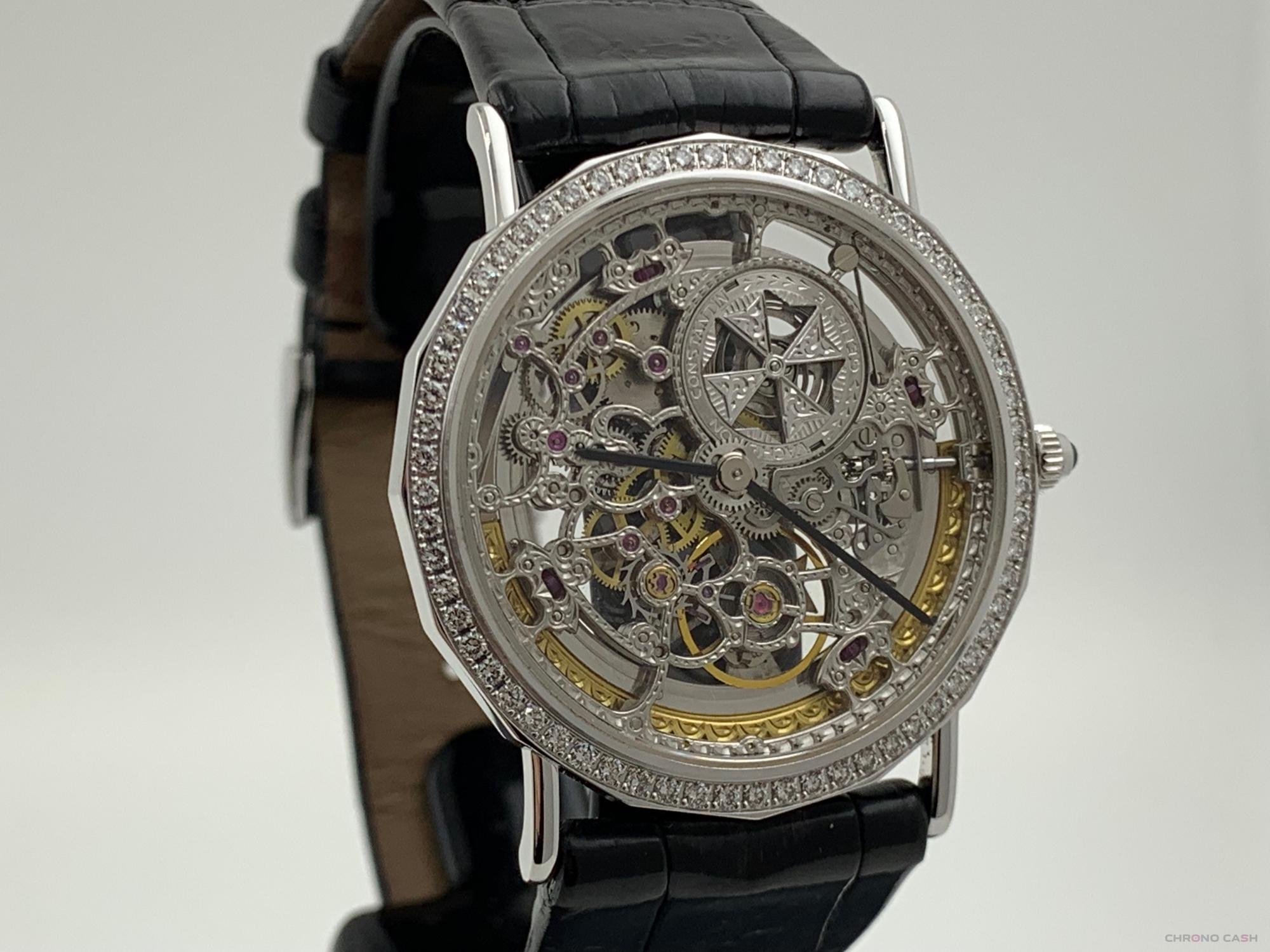 Vacheron Constantin Skeleton White Gold Diamonds Automatic Extract 34MM Rare 43502/2 -