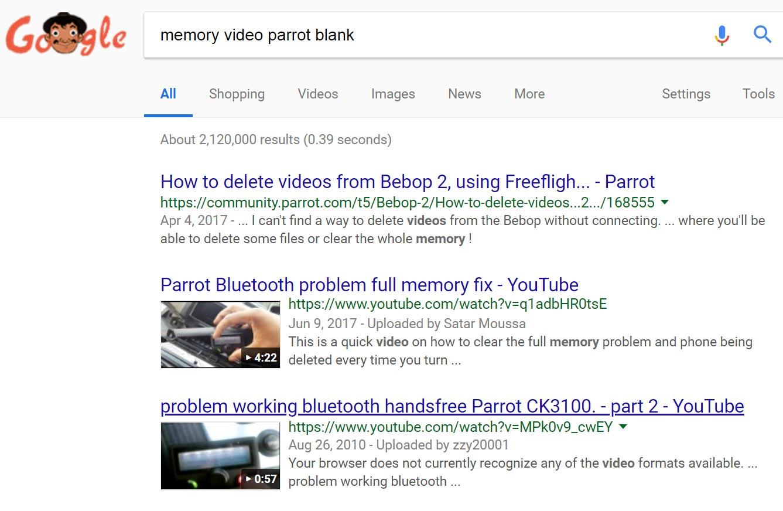 screen capture of random search tab