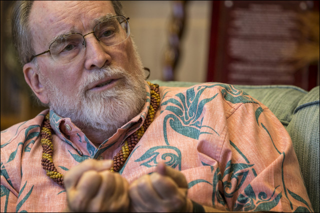 Gov. Neil Abercrombie during an interview with Civil Beat.