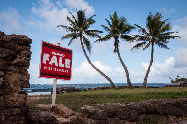 Richard Fale sign Laie growth May 2014