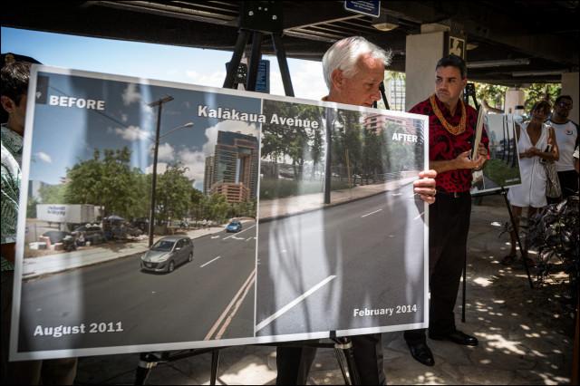 Mayor Caldwell Waikiki Homeless plan news conference