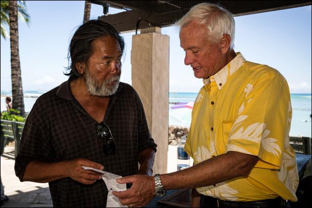 Mayor Caldwell homeless man Waikiki