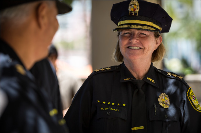Honolulu Deputy Police Chief Marie McCauley was the subject of an ethics commission investigation that centered around her boss and his wife.