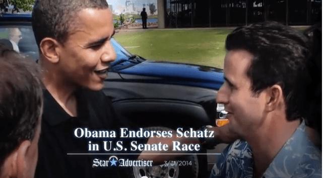 Ad Watch: Schatz Puts Arms Around 'Island Son' Obama
