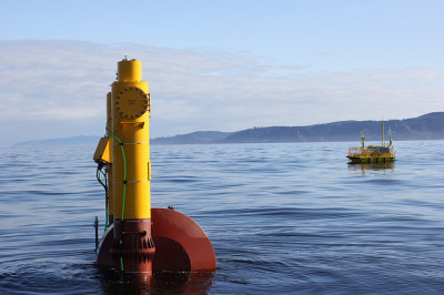Azura wave energy testing device