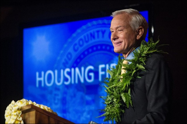 Kirk Caldwell _ State of the City/2014_Housing First (PF)
