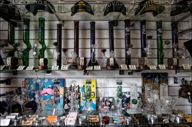 Marijuana pipes.