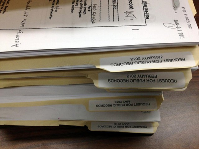 Public records are seen here at the Hawaii Department of Health's Solid and Hazardous Waste Branch, Sept. 12, 2013, in Honolulu.