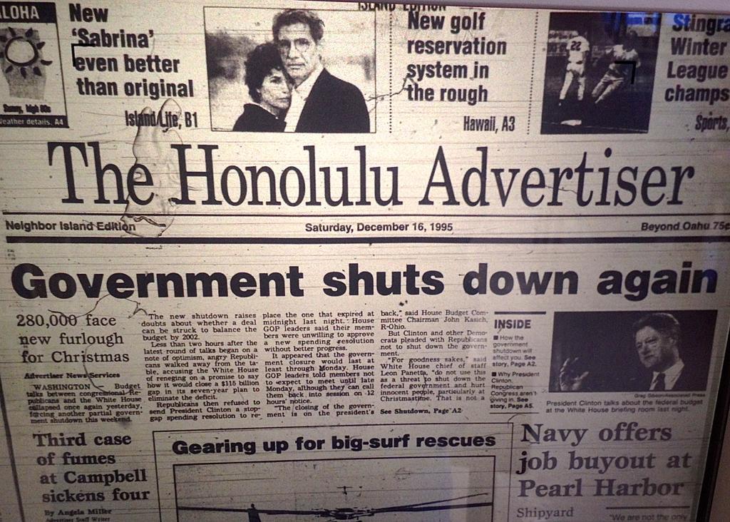 The Shutdown of '95-'96: 'Silliest Washington Squabble in Memory'