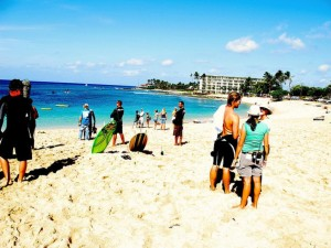 Leeward Residents Protest Temporary Road Through Makaha Beach