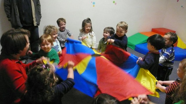 children playing at preschool / daycare