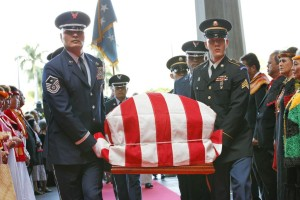 Abercrombie to Inouye: 'You Are Home With Us in Paradise'
