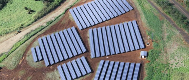 Another solar array on Kauai, where 17 percent of electricity this year has been produced by solar.