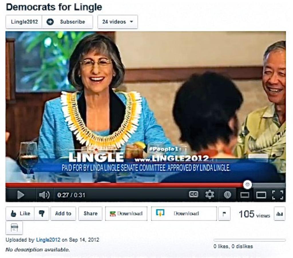 Hirono: Lingle TV Spot Misleads Voters