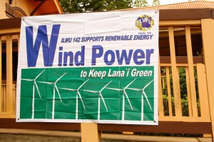 Pro-Wind Signs Come Down on Lanai