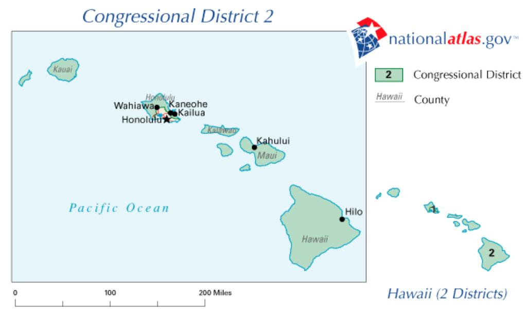 Oahu Dominates 'Rural' 2nd Congressional District