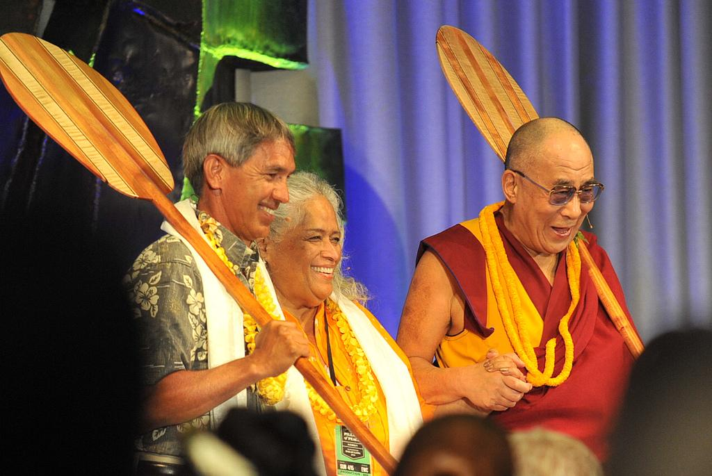 One Paddle, Two Paddle for the Dalai Lama