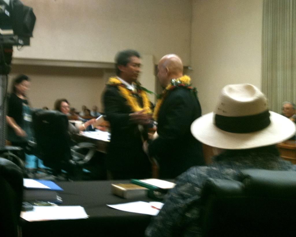 Handing Over City Council Reins, Nestor Garcia Channels Conan O'Brien
