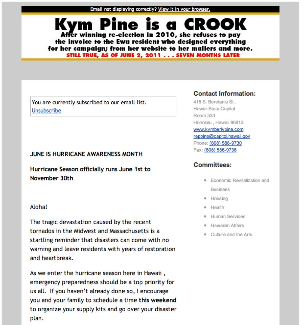 Email, Website of Hawaii Lawmaker Hacked